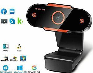 1080i Full HD USB Webcam  PC Desktop & Laptop Web Camera Microphone/FHD 2K Live