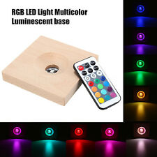 Gradient RGB LED Light-emitting Base Multicolor Lamp Holder Send Remote Control
