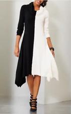 Ashro Vina Black and White Sweater Dress Dinner Date Night Church XL 1X 3X PLUS
