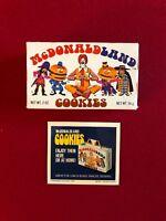 1975, McDonald's, McDONALDLAND Cookie Box & 1974 Vintage Display Sign (Scarce)