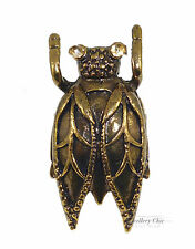 Bronze Cicada Insect Beetle Costume Jewellery Adjustable Ring