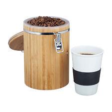 Kaffeedose Bambus mit Bügelverschluss Abschließbar mit Vorratsbehälter Box