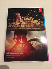 Adobe Photoshop Elements & Premiere Elements 15 PC & Mac Bundle - New and Sealed