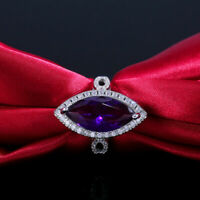 New Style 3Ct Marquise Cut Amethyst Halo Engagement Ring 14K White Gold Finish