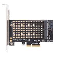 PCIe X4 to NGFF M.2 NVME PCIe M Key SATA B Key 2230 to 2280 SSD Adapter EF
