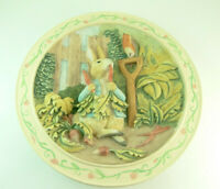 TALE OF PETER RABBIT 3D Plate  by Davenport Pottery 1993  No Box or paperwork