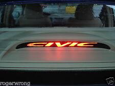 Honda Civic 3rd brake light decal overlay 2001 2002 2003 2004 2005