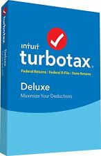 Genuine TurboTax Deluxe Tax Software 2017 Fed + Efile + State - PC/MAC CD/DVD