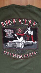 Daytona Beach Bike Week 2013 T-Shirt by Hot Leathers Size Large