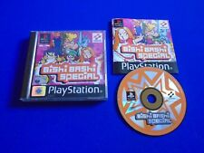 ps1 BISHI BASHI SPECIAL Boxed COMPLETE PAL Playstation ps2 ps3