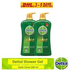 Dettol Gold Shower Gel Daily Clean Body Wash Double Protected 500 ml x 2 DHL Ex