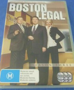 Boston Legal Season 3 Three DVD (SET) Series Complete Third - AUST REGION 4