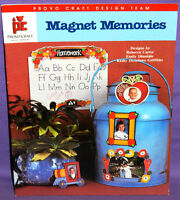 Provo Craft Magnet Memories Tole Paint Pattern Book Carter Mini Picture Frames