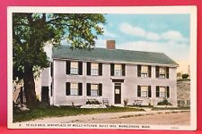 Postcard MA Marblehead Ye Old Brig Birthplace Molly Pitcher Built 1650 House A2