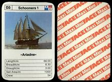 Ariadne - Sailing Ships 1970's ACE Maxi-Mini Trumps Card