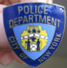 NYPD Brass Lapel Pin