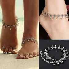 Women Silver Bead Anklet Chain Ankle Bracelet Barefoot Sandal Beach Foot Jewelry