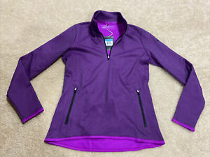 NWT Nike Golf Therma-Fit Purple Athletic 1/4 Zip Pull Over Women's Size Medium