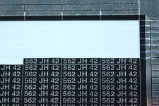 NF plaque immatriculation 562 JH 42 autocollant voiture DS LEMAN Heco