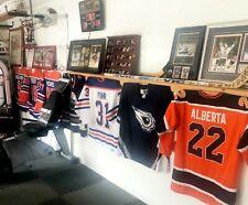 EDMONTON OILERS LARGE LOT- GRETZKY MCDAVID JERSEYS STICKS TIX-Free Shipping