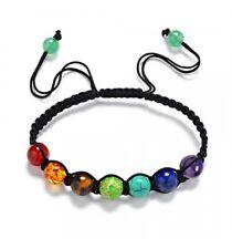 Bracelet Shamballa 7 chakras en pierres fines. Bijou feng shui méditation.