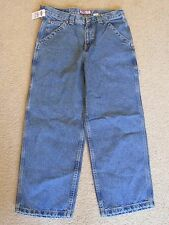 New with Tags Boy's Old Navy Painter Blue Cargo Jeans Size 16 Extra Loose