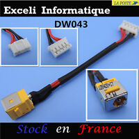 Acer Extensa 5220 5230 5420 5430 90 w dc power jack socket cable wire harness fr