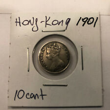 Silver Coin Hong-Kong 1901 10 Cent