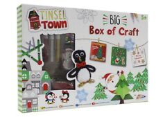 Childrens Christmas Big Box Of Craft Set Make your own Decorations & Cards Kit