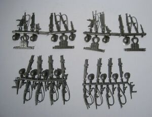 Original MPC  Marx Army accessories  on sprues  4 Military soldiers sets  OSS