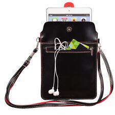 "Black PU Leather Tablet Shoulder Bag For 8"" Samsung Galaxy Tab A/LG G Pad F2 8.0"