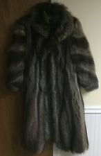 Pre-owned Raccoon Fur Coat Full Length