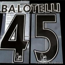 Manchester City Balotelli 45 Premier League Football Shirt Name Set 2007-12