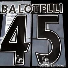 Manchester City Balotelli 45 Premier League Football Shirt Name Set 2007-12