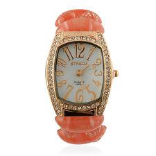 dac6a4923 Strada 18k Cherry Pink Quartz Faceted Glass Austrian Crystal Watch