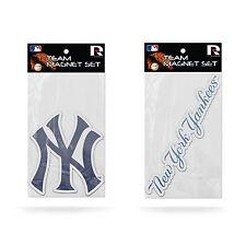 Rico MLB Baseball New York Yankees logo Team Magnet Set 2 pack new