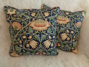 """LODDEN  BY WILLIAM MORRIS1 PAIR OF 18"""" CUSHION COVERS 100%  COTTON ICONIC DESIGN"""
