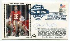1985 Super Bowl XIX Autographed Signed Gateway Cachet Joe Montana