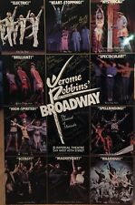 Cast Signed JEROME ROBBINS BROADWAY Broadway Poster Windowcard