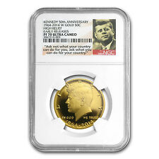 2014-W 3/4 oz Gold Kennedy 1/2 Dollar PF-70 NGC (ER) (JFK label) - SKU #85466