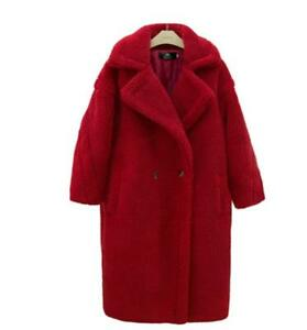 Fashion Women Feel Oversize Faux fur long coat runway jacket parka Loose Outwear