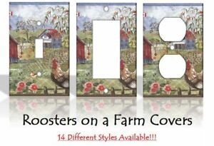 Roosters Kitchen Light Switch Covers Home Decor Outlet