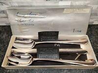 Gerity Serving Spoon & Salad Fork Set -w/ Box - STERLING SILVER L36