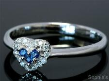 Solitaire Sapphire White Gold Engagement Rings
