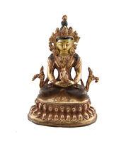 Soprammobile Tibetano Budda Amitabha Rame E Doratura Nepal Budda AFR9-329