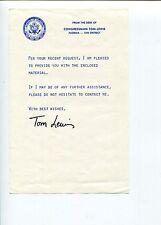 Tom Lewis FL Florida US Representative Congress Signed Autograph Letter TSL
