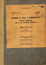 AVRO YORK C.Mk.1 / VOLUME I / TECHNICAL / A.P.2484A