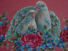 Valentine Love Doves bird Victorian Rose print