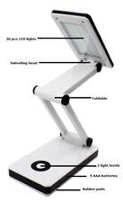 Exclusive Adjustable Folding Travel Desk Light Lamp 30 LED's 2 Brightness Levels