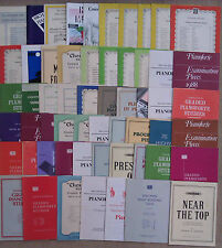 """SHEET MUSIC & BOOKLETS FOR THE PIANO - GRADES 1 - 8.        """"E"""""""